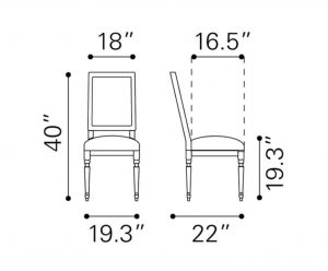 dining chair dimensions cado modern furniture cole valley dining chair era collection dimensions