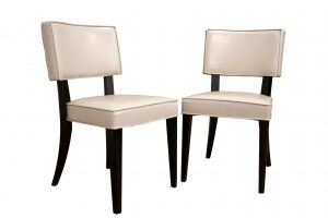 dining chair set baxton studio baxton studio cream bonded leather dining chair set of set of ver chr dining chair