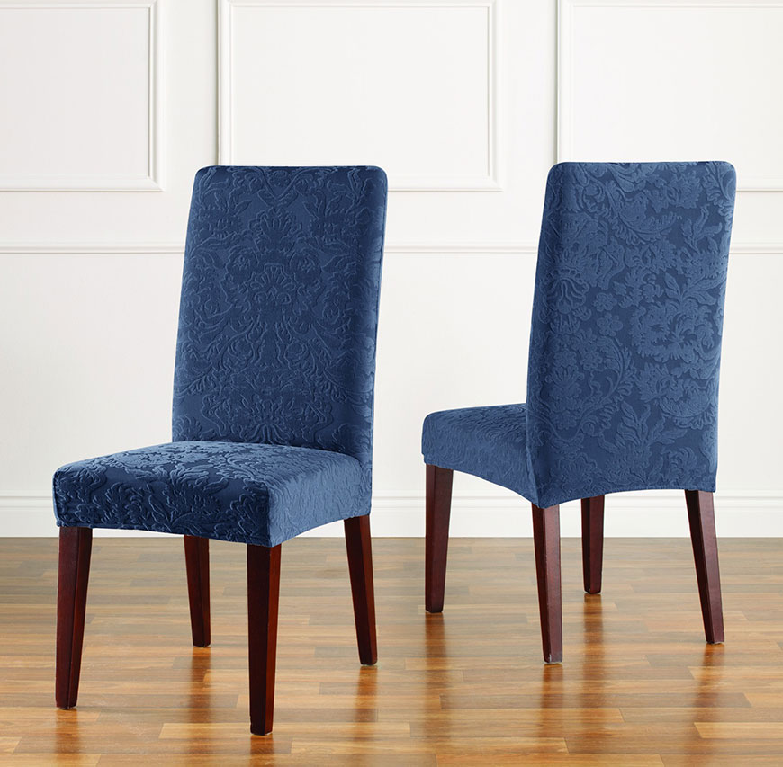 dining chair slipcovers stretch jacquard damask short dining chair slipcover