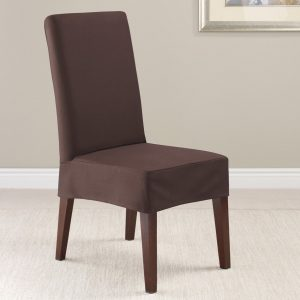 dining chair slipcovers twillsupreme coffee short dining chair
