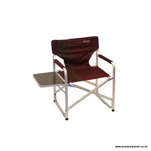 directors chair with side table quest elite deluxe range directors chair with side table burgundy p zoom