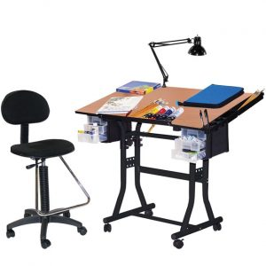 drafting table chair martin black creation station drafting table chair lamp and tray set l