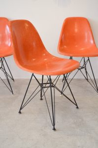 eames fiberglass chair eames orange dsr chairs