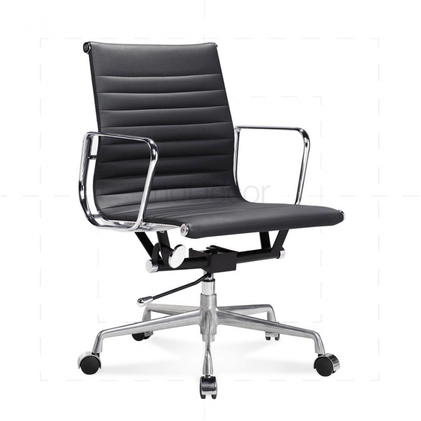 eames office chair eames office chair low back ribbed black leather main x