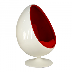 egg pod chair egg pod white abs red fabric