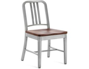 emeco navy chair emeco navy side chair wood seat