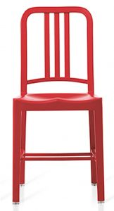 emeco navy chair red
