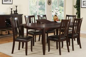 espresso dining chair dining table set with hidden leaf espresso finish