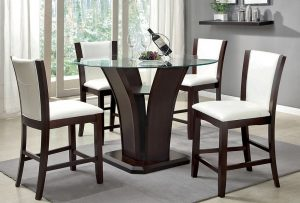 espresso dining chair cmpt wh