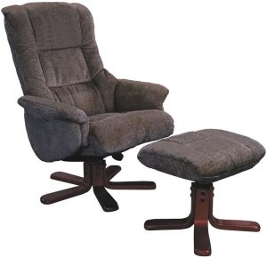 fabric recliner chair gfa shangri la mink fabric swivel recliner chair