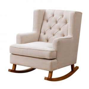 fabric rocking chair l