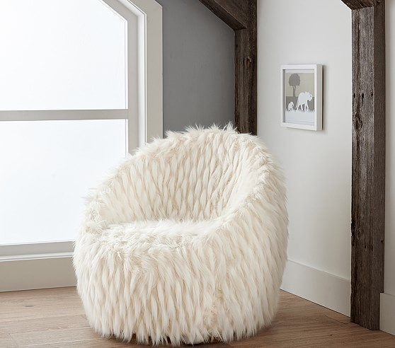 faux fur chair fur lounge chair c