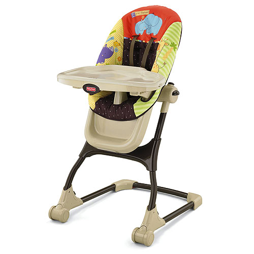 fisher price high chair v luv u zoo ez clean high chair d