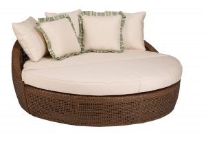 floor lounge chair oversized round outdoor wicker chaise lounge chair with pillows and comfy pad
