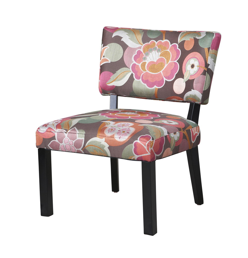 floral accent chair powell pink brown floral accent chair