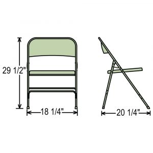 folding chair dimensions l