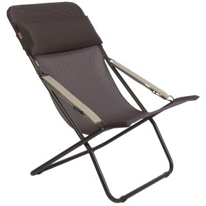 folding lounge chair lafuma transabed xl folding lounge chair batyline in mocha marron brown frame~p~t ~