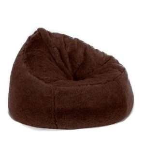 fur bean bag chair beanbag chair faux fur brown bear long pile