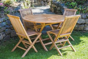 garden tables and chair seater teak outside furniture set cm round folding