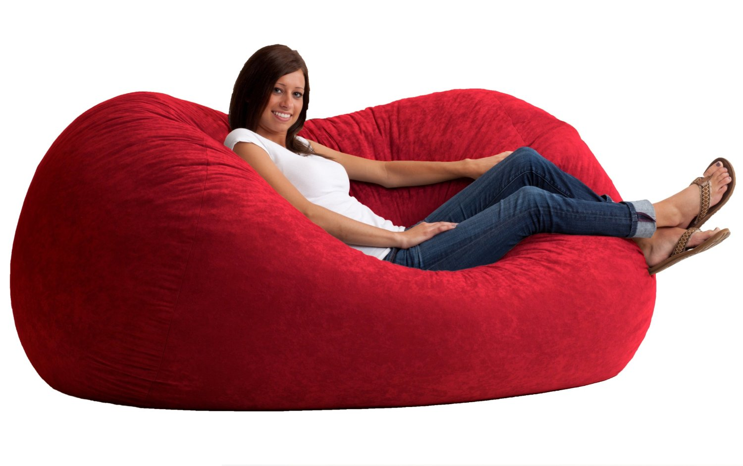 giant bean bag chair tempting large red fuzzy bean bag chair in bedroom decor
