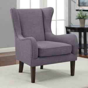 gray wingback chair curved wing upholstered chair grey ef cb f a ce