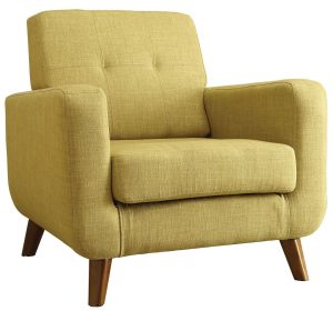 green accent chair b