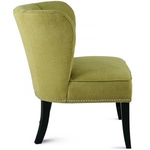 green accent chair milo chair grass green