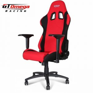 gt omega chair gt omega pro racing office chair red and black fabric () x