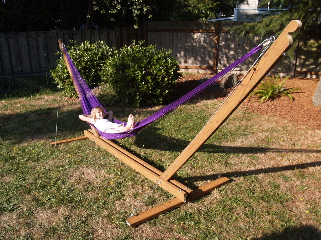 hammock chair stand diy stunning backyard with diy hammock chair stand and wood fence