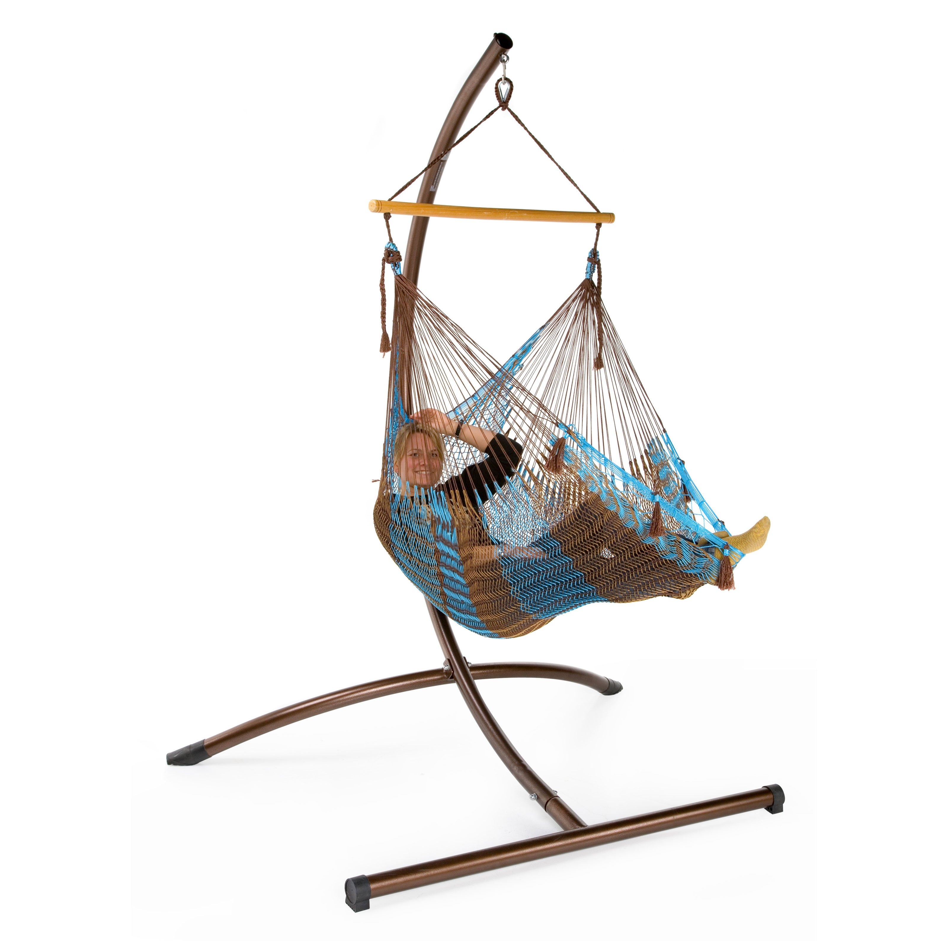 hammock with smsender co chair stand hanging arc swing tulum