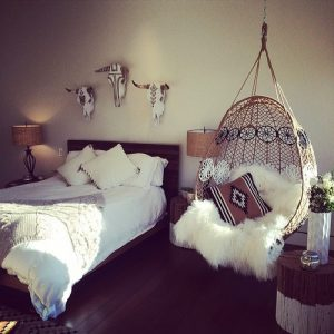 hanging chair for bedroom boho bedroom how wonderful to have a hanging chair next to your bed