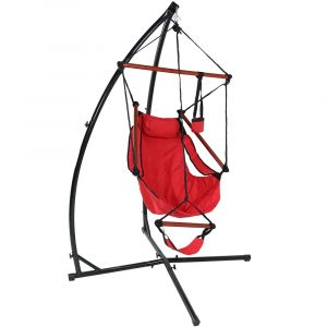 hanging hammock chair with stand ly hhc red combo