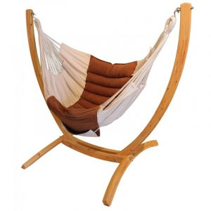 hanging hammock chair with stand wooden arc hanging chair stand