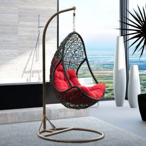 hanging inside chair country style multicolor synthetic rattan garden swing hanging chair leisure hanging egg chair for indoor and