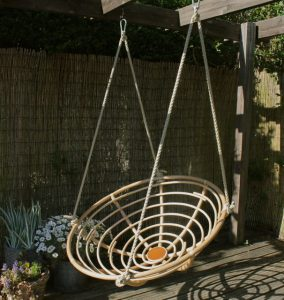 hanging papasan chair swing