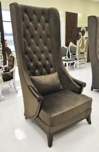 high back living room chair dark brown duchess high back chairs for living room with small pillow