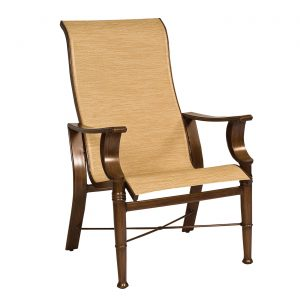 high back outdoor chair h