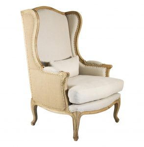 high back wing chair product