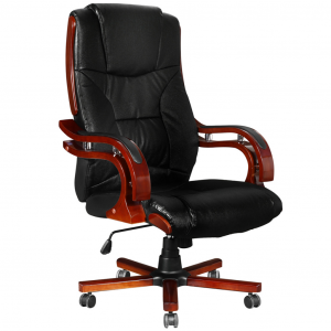 high backed leather office chair image