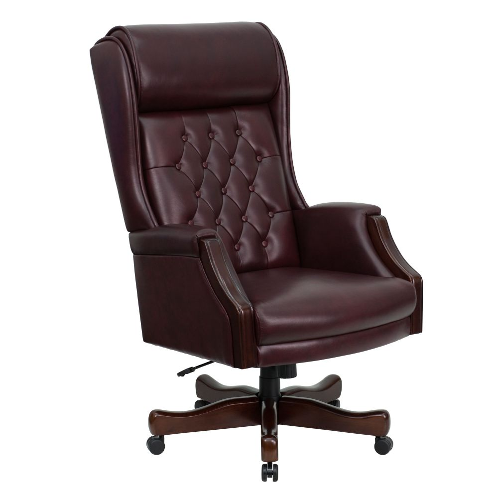 high backed leather office chair