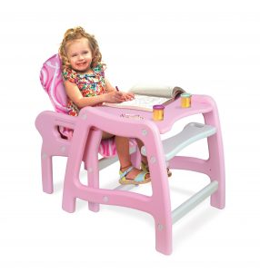 high chair for baby girls girl jpg envee baby high chair with pla