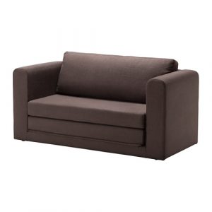 ikea futon chair askeby two seat sofa bed tullinge grey brown pe s