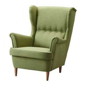 ikea wing chair strandmon wing chair green pe s