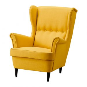 ikea wing chair strandmon wing chair yellow pe s
