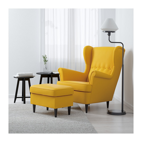 ikea yellow chair strandmon wing chair skiftebo yellow pe s