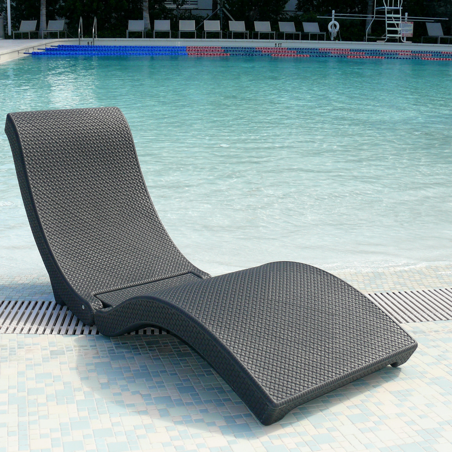 in pool lounge chair