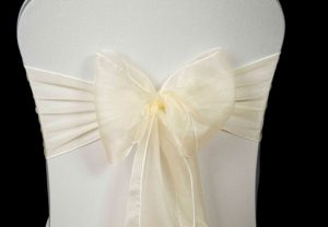 ivory chair covers sash ivorycreamorganza(lrg)