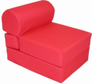 kid sleeper chair red