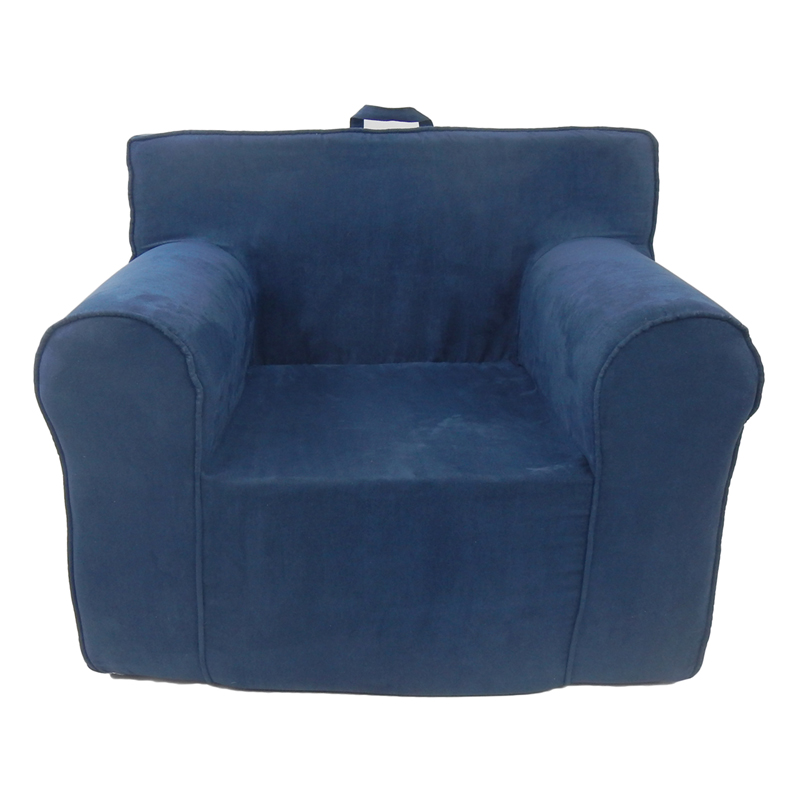 kids foam chair kids everywhere foam chair in navy blue microsuede
