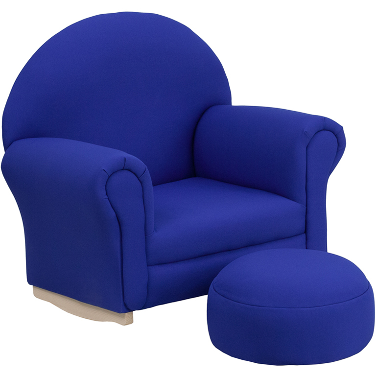 kids lounge chair kids rocker chair footrest blue